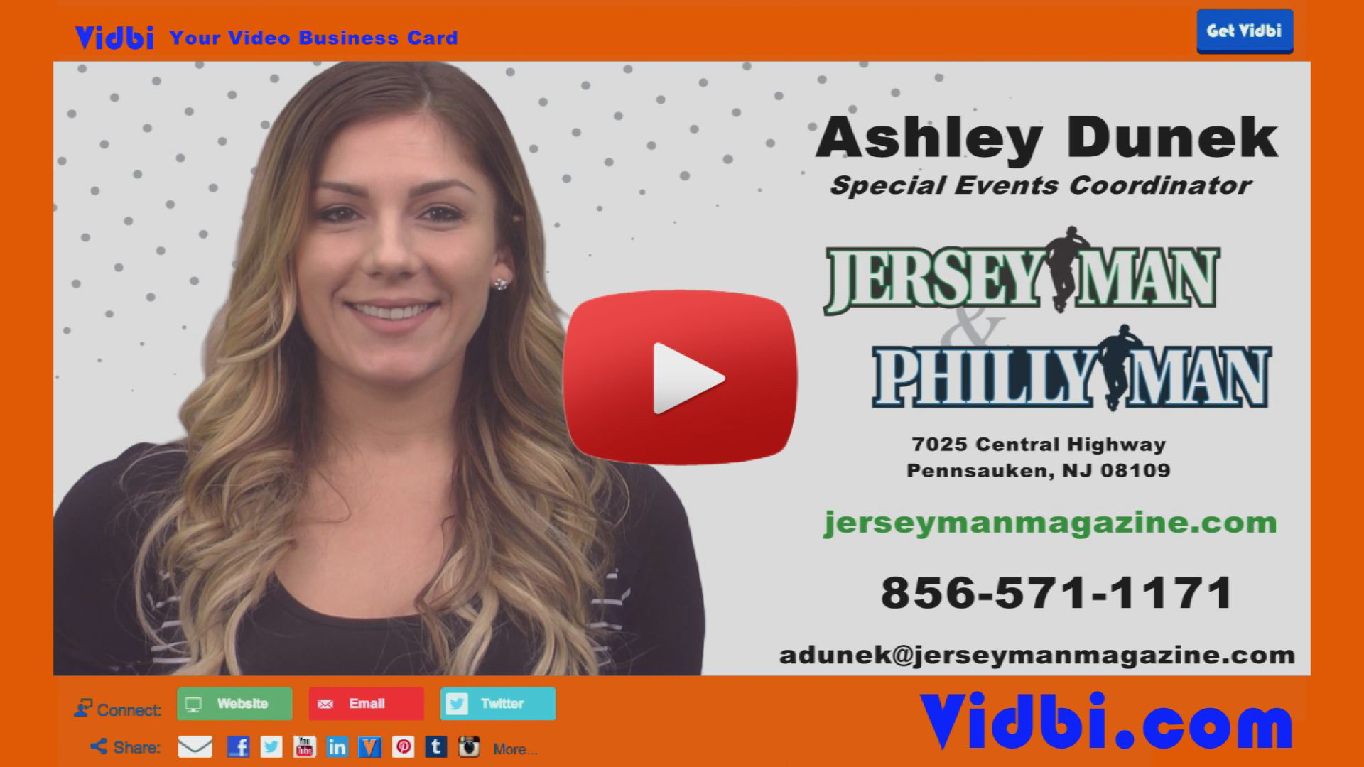 Ashley Dunek - JerseyMan PhillyMan Magazine Vidbi