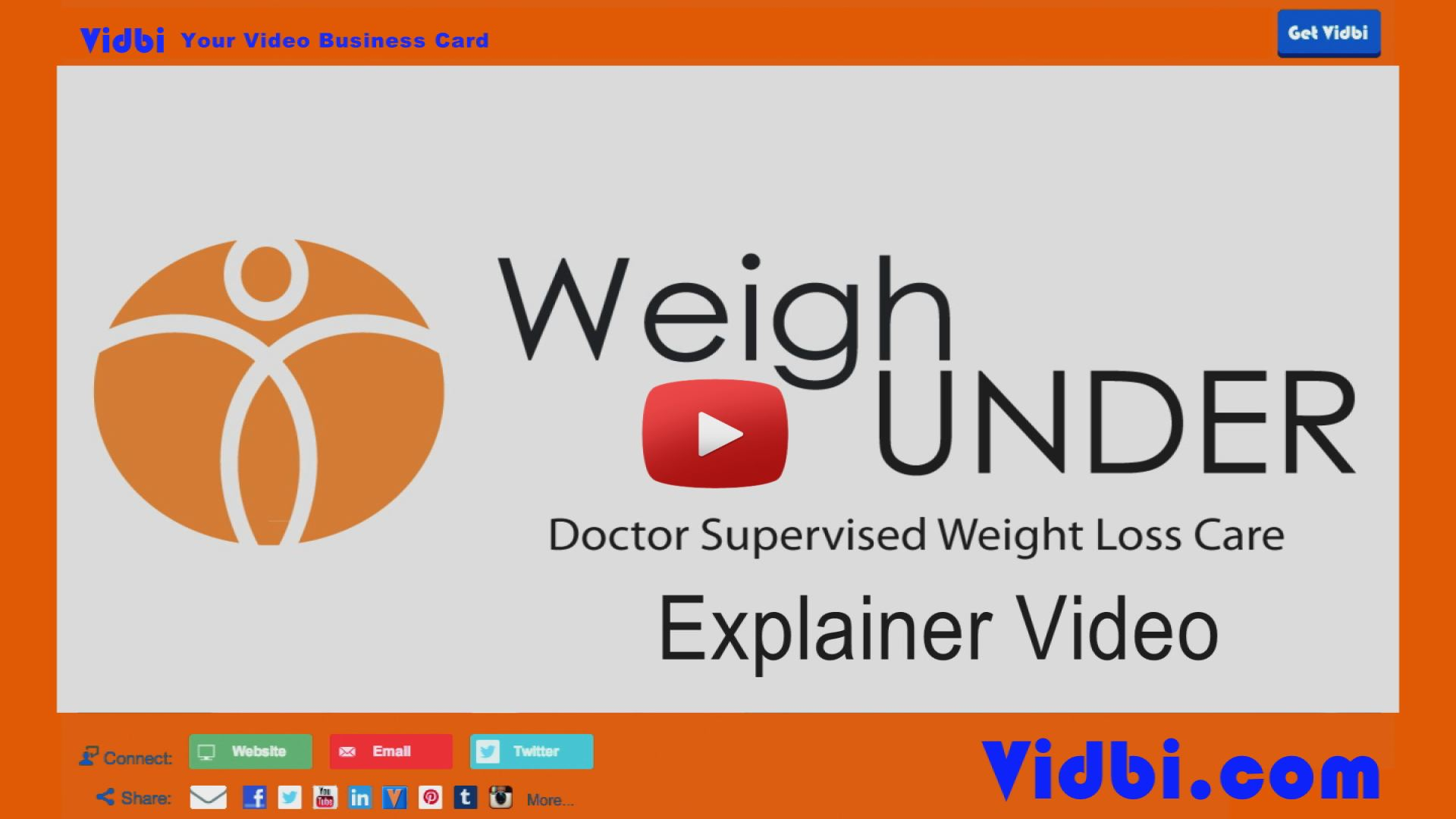 WeighUnder Explainer Video Vidbi