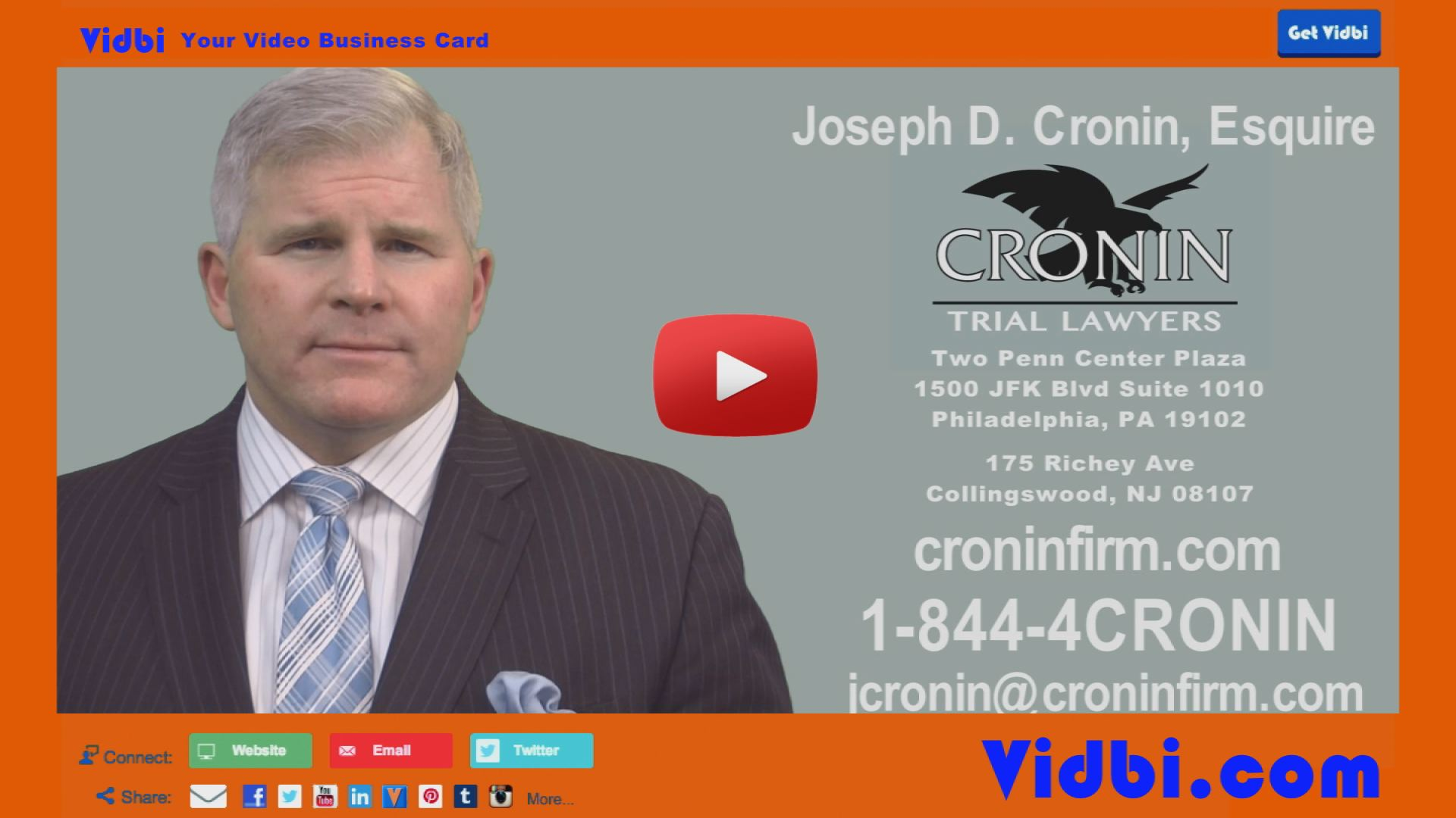 Joe Cronin Trial Lawyers Vidbi