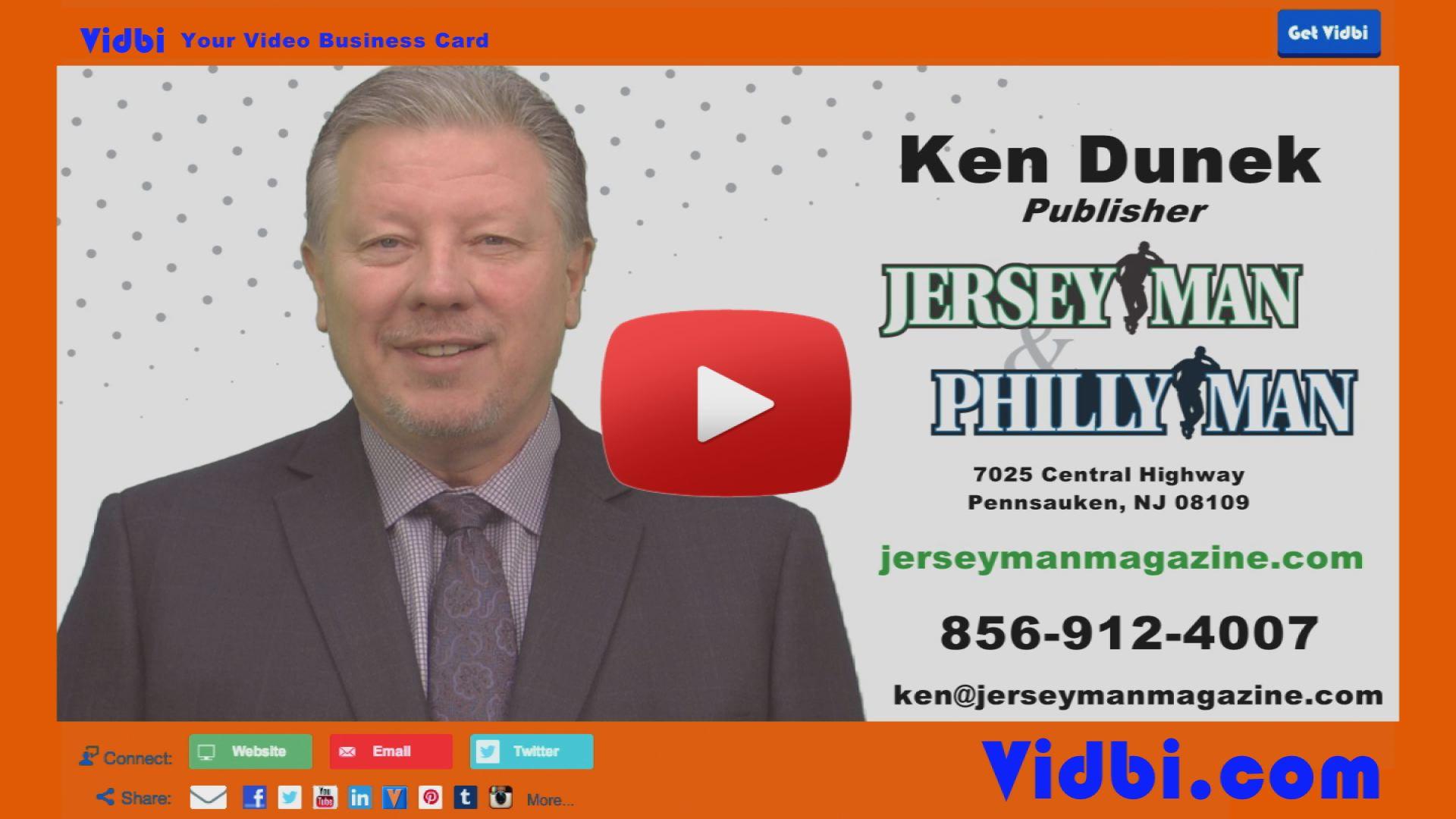 Ken Dunek - JerseyMan PhillyMan Magazine Vidbi