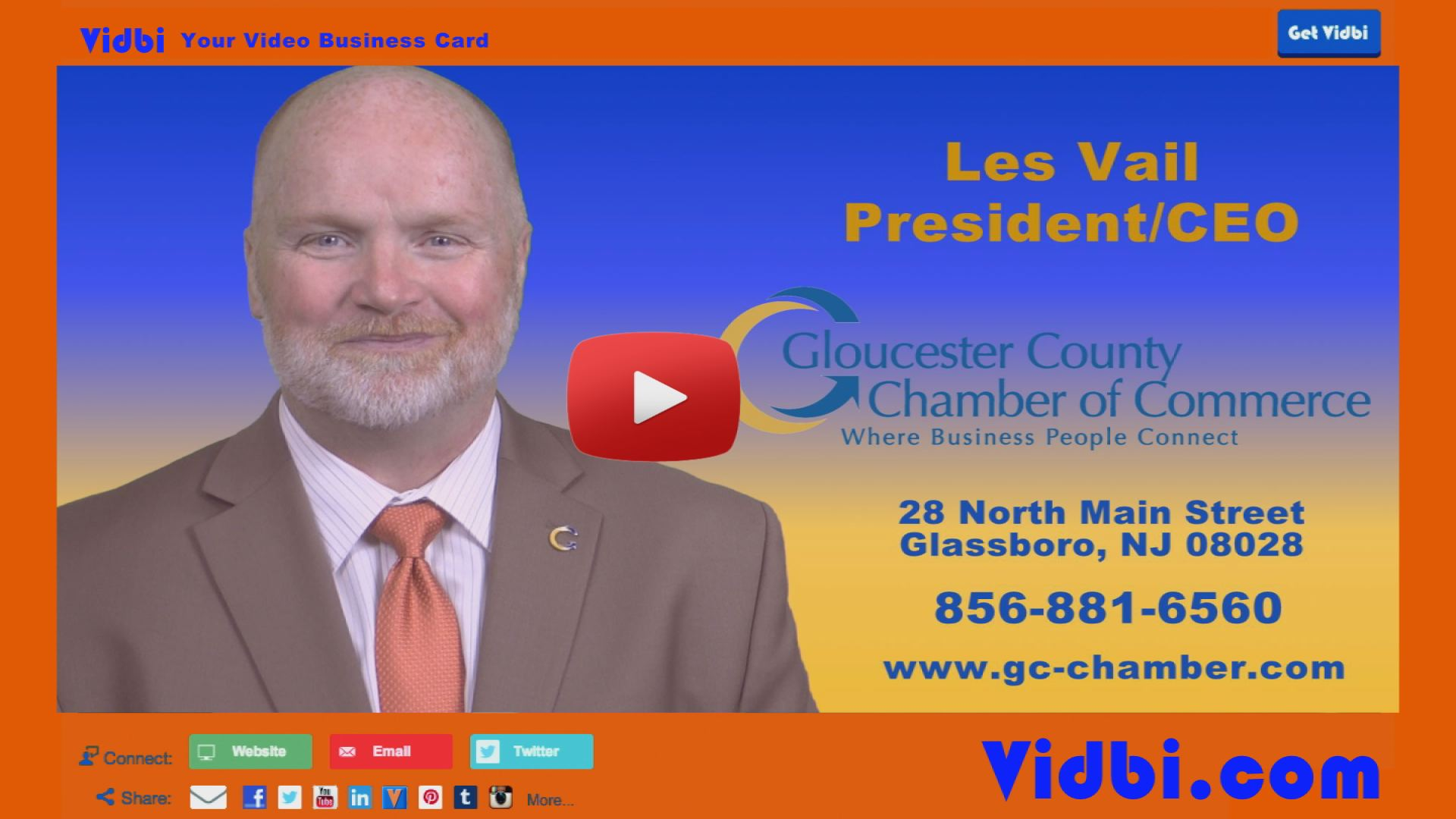 Les Vail - Gloucester County Chamber of Commerce President Vidbi