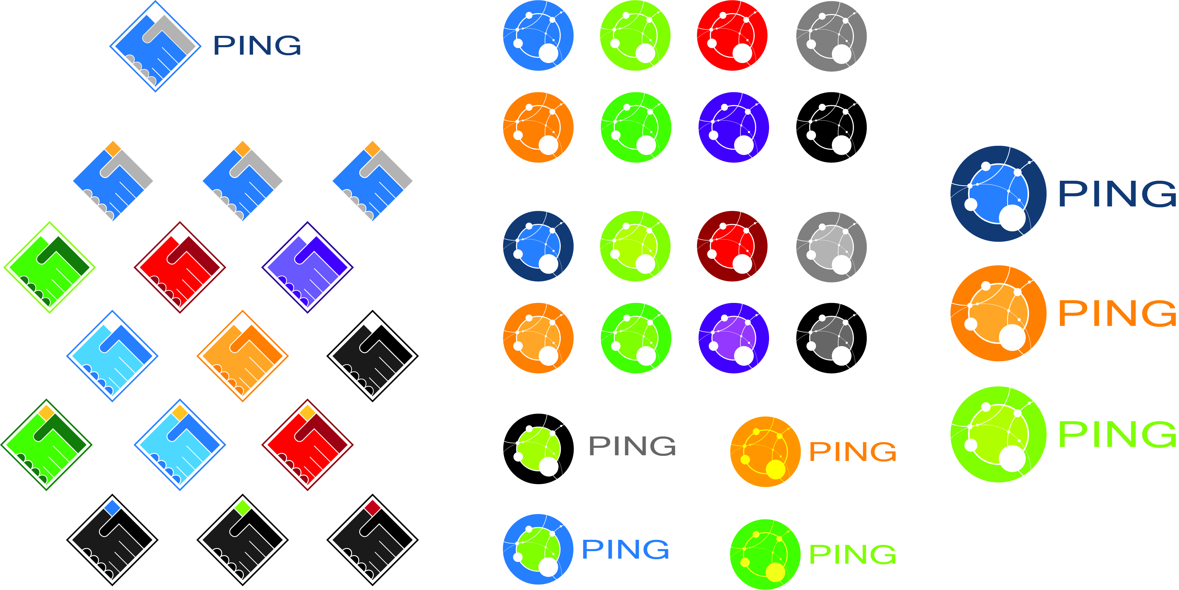 logo creation for ping network group by CVP