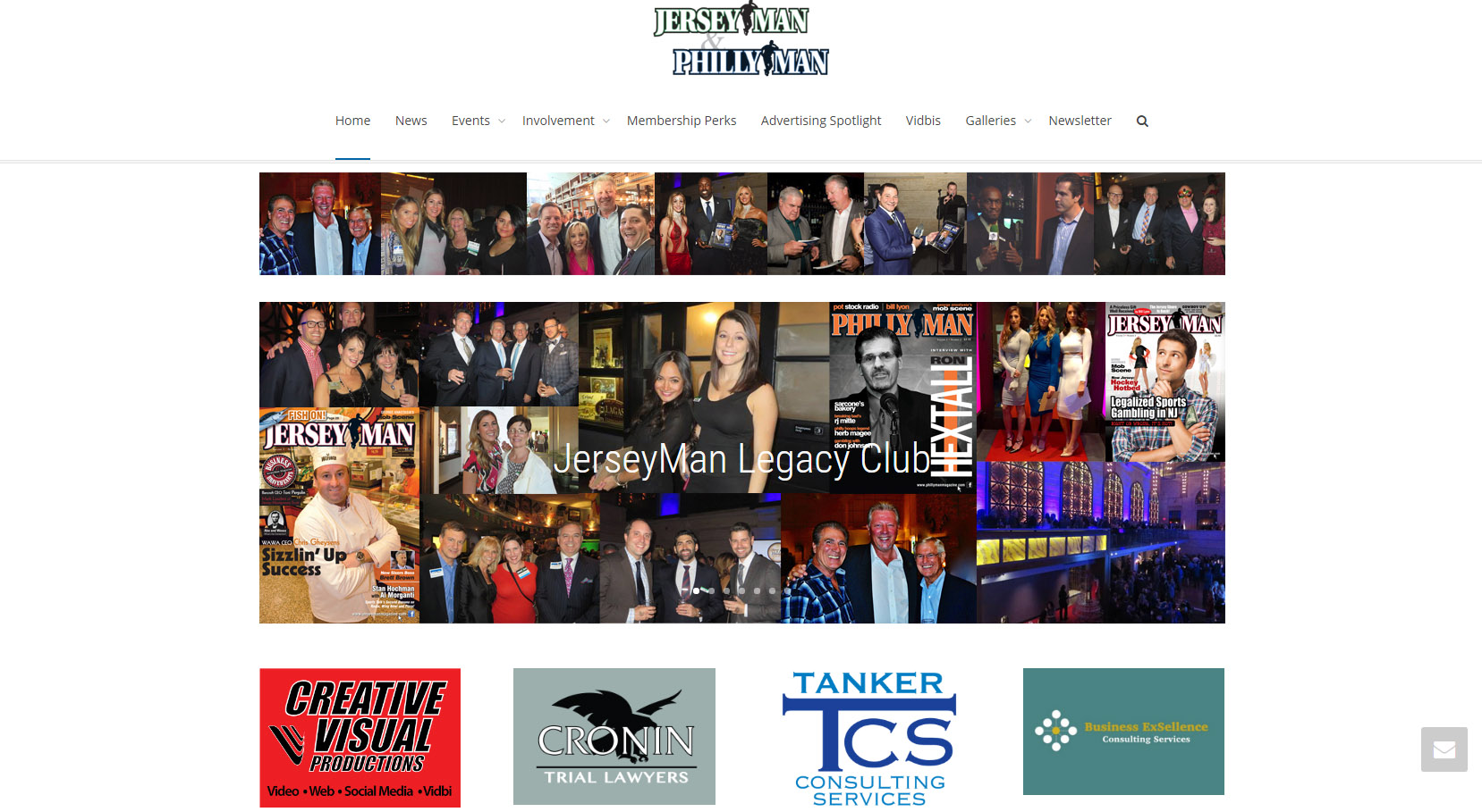 website design for JerseyMan Legacy club from Creative Visual Productions