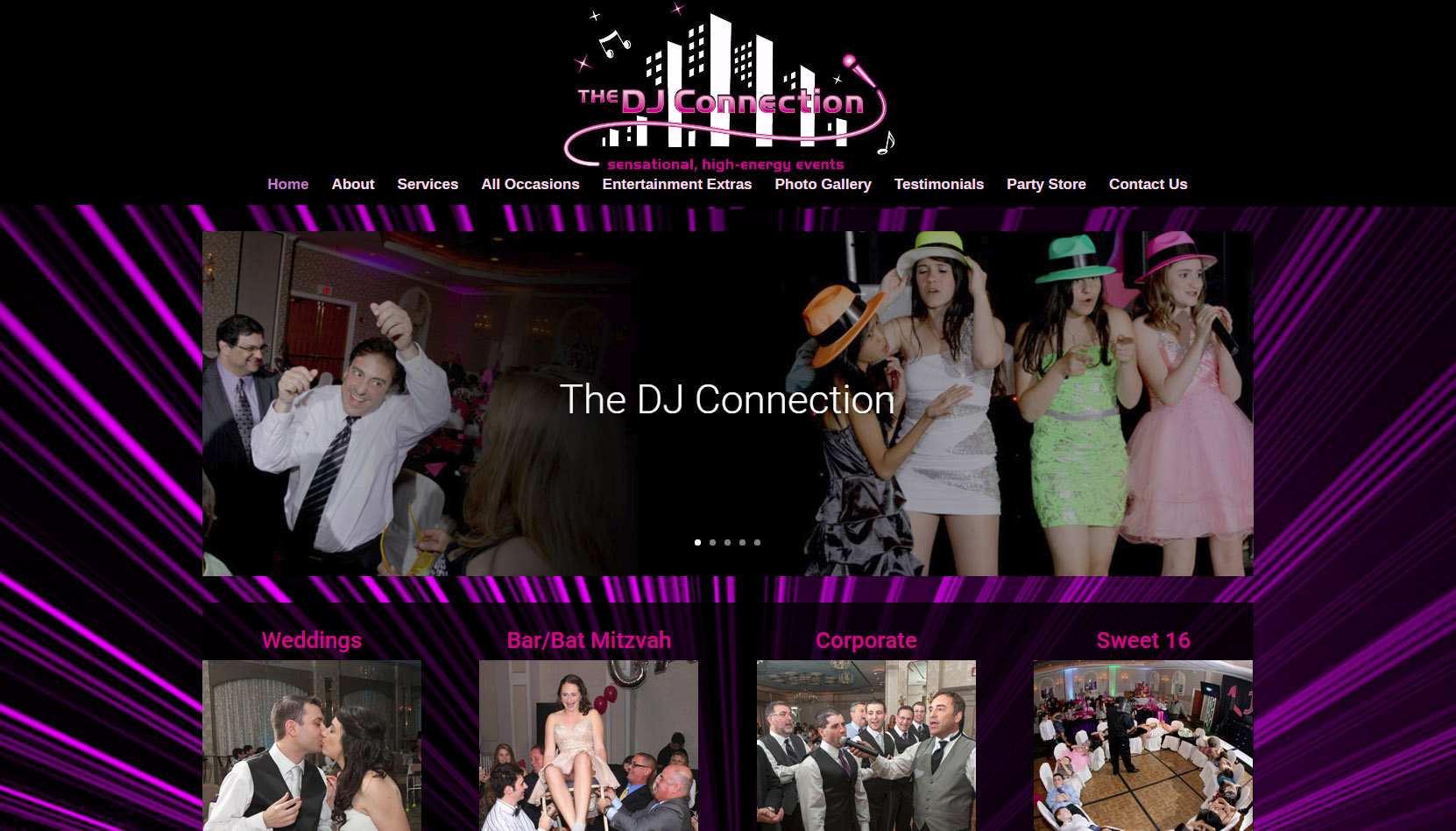 the dj connection website design by cvp