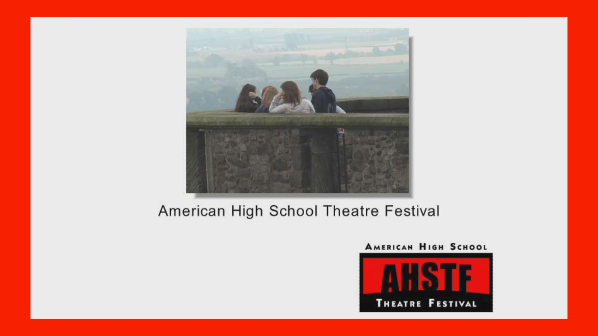 american high school theatre festival Video Production