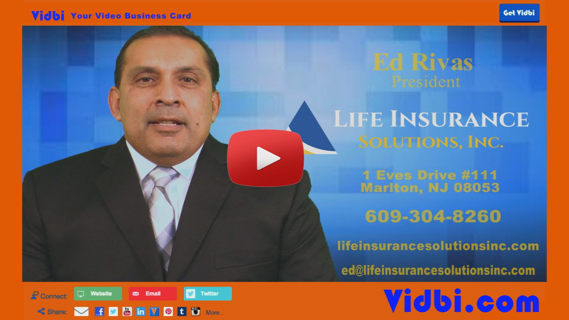 Ed Rivas - Life Insurance Solutions Inc Vidbi