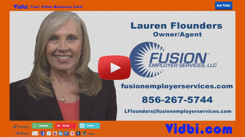 Lauren Flounders - Fusion Employer Services LLC Vidbi