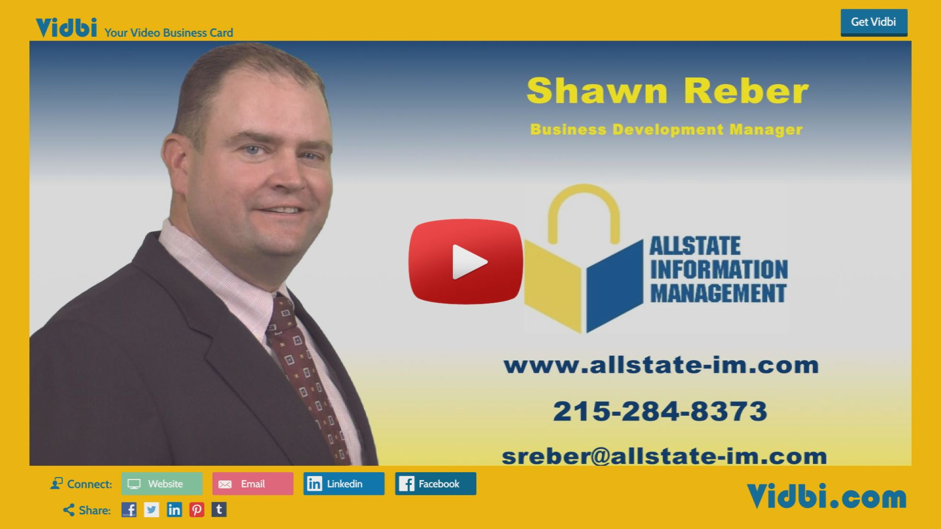 Shawn Reber - Allstate Information Management Vidbi