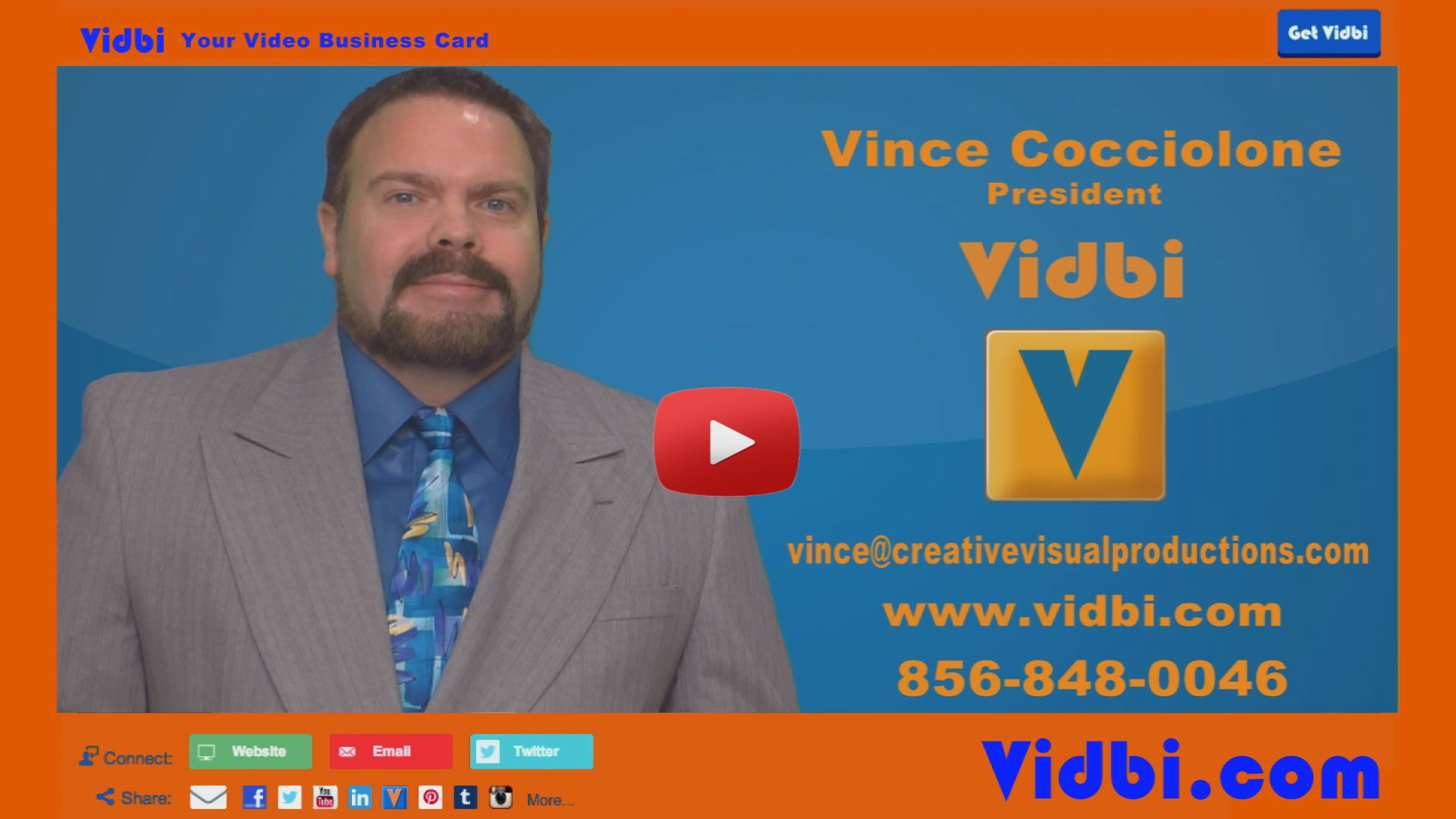 Vince Cocciolone - Creative Visual Productions Vidbi