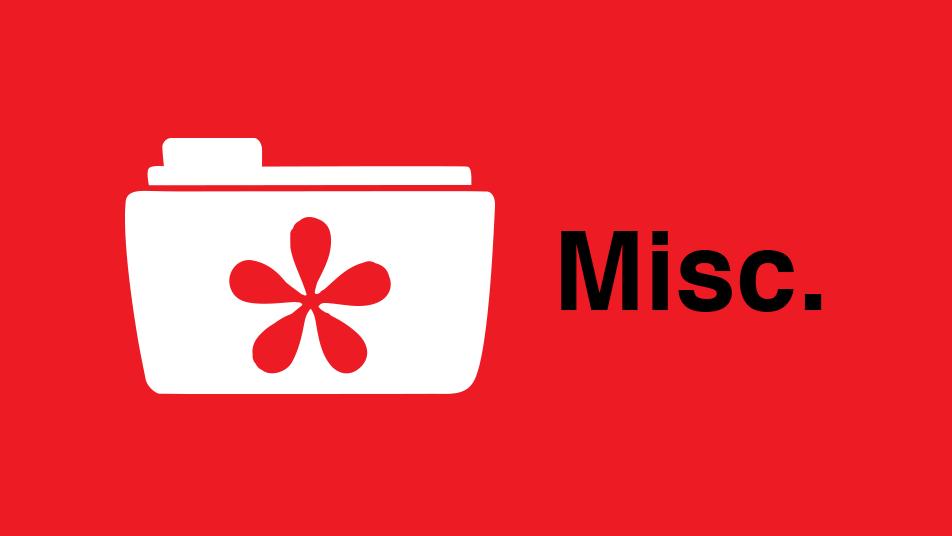 Misc Portfolio items