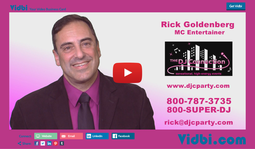 Rick Goldenberg - The DJ Connection Vidbi