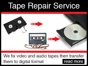 audio tape and video tape repair services