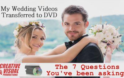 My Wedding Videos Transferred to DVD: Videotape Conversion Service